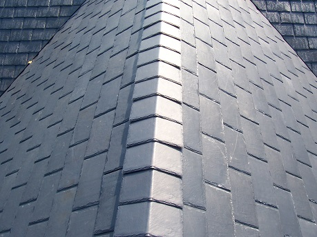 Synthetic slate residential roof types american for Types of residential roofs
